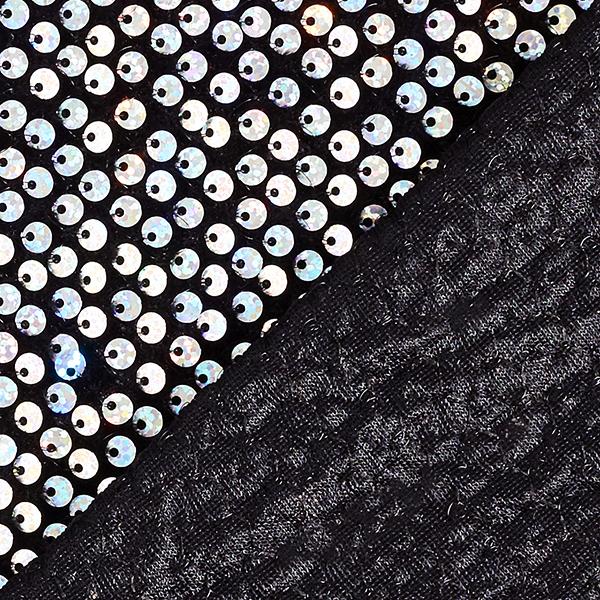Tissu à paillettes Panne de velours – argent