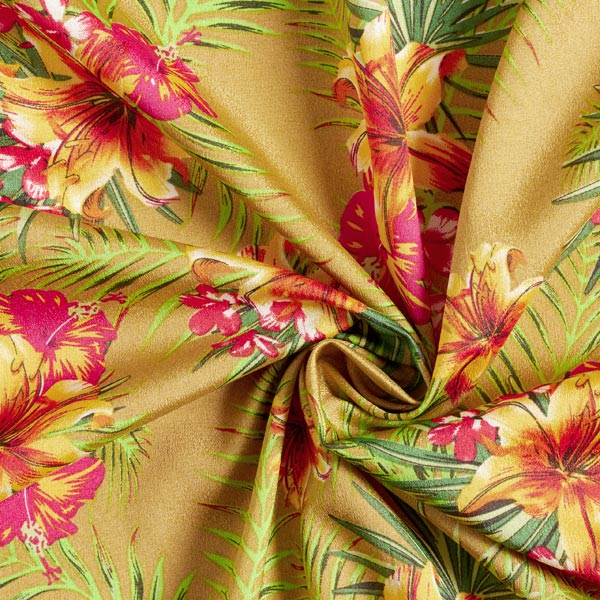 Satin stretch Crêpe Tropicana – or