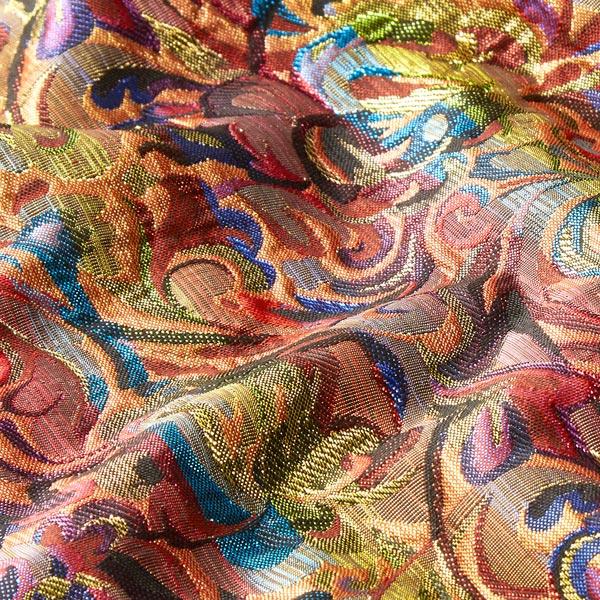 Tissu carnaval Brocart Brillance florale