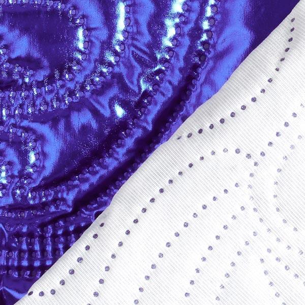 Tissu matelassé Metallisé Motif Paisley – lilas bleu