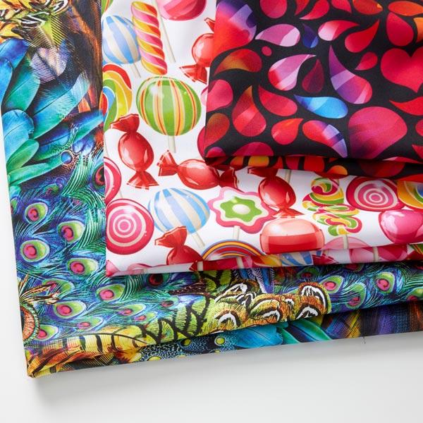 Tissu carnaval Imprimé numérique Fête Candy multicolore
