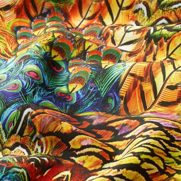 Tissu carnaval Imprimé numérique Oiseau paradisiaque