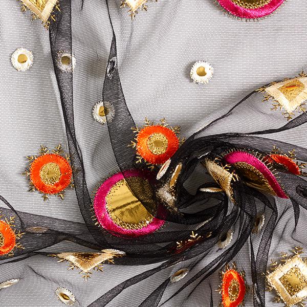 Mesh Motif Banjara indien – noir