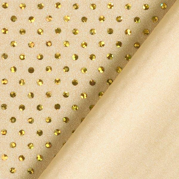 Tissu à paillettes Lycra Hologramme – or
