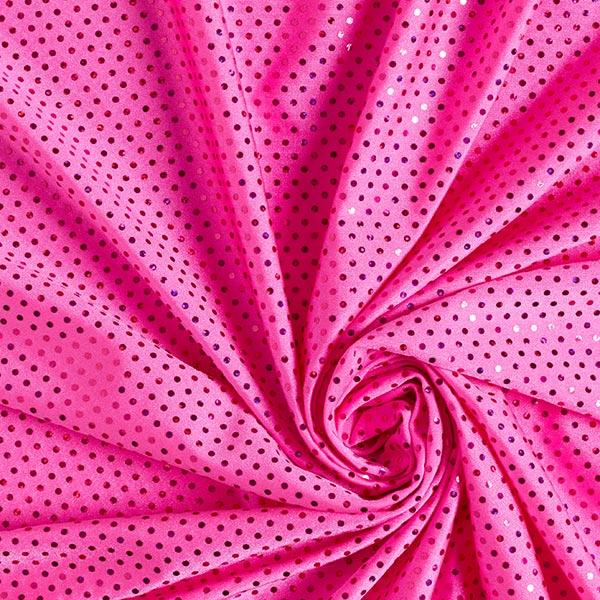 Tissu à paillettes Lycra Hologramme – rose vif