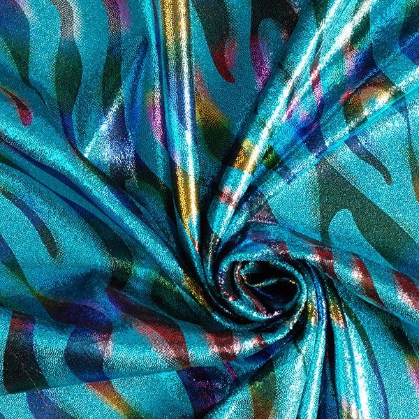 Lycra Paillettes Motif – turquoise