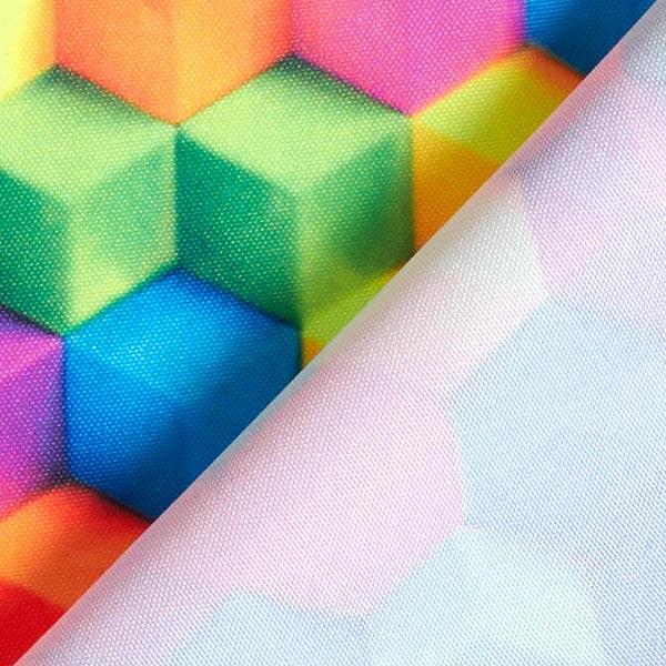 Tissu carnaval Imprimé numérique Dés multicolores – mélange de couleurs