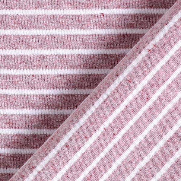 Jersey coton Interlock Rayures Chiné – vieux rose