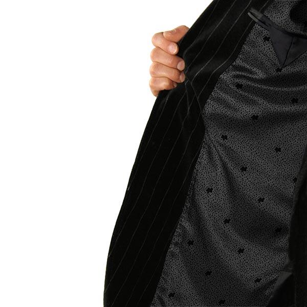 Tissu de doublure jacquard Fleurs – noir