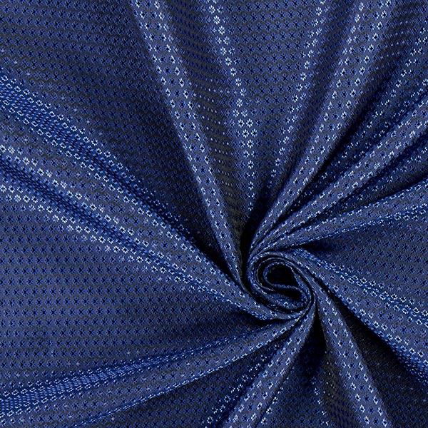 Tissu de doublure jacquard Losanges miniature – bleu marine