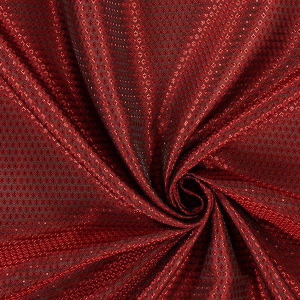 Tissu de doublure jacquard Losanges miniature – rouge