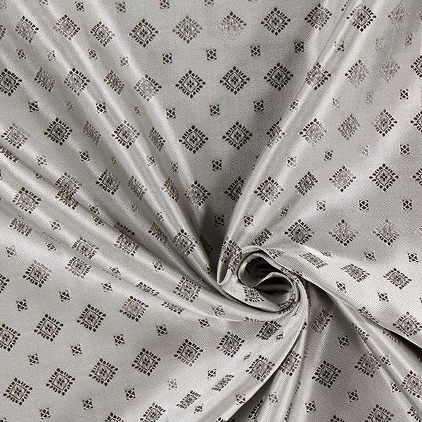 Tissu de doublure jacquard Losanges – gris