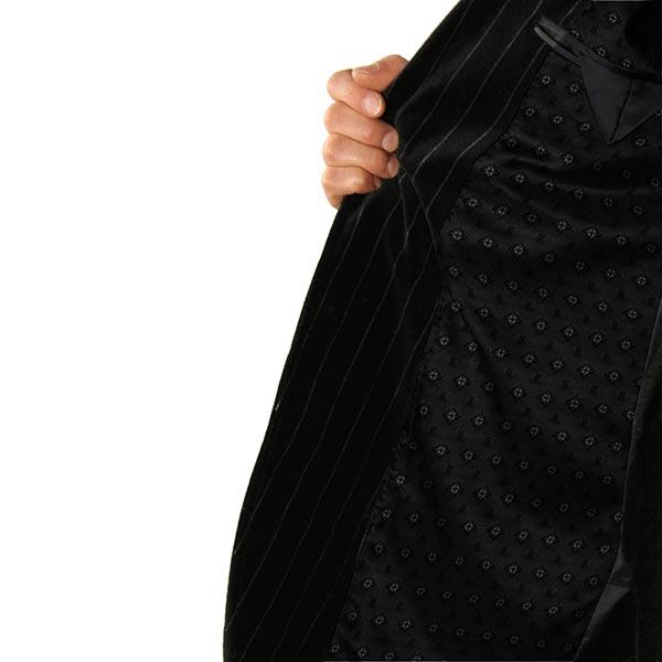 Tissu de doublure jacquard Losanges – noir