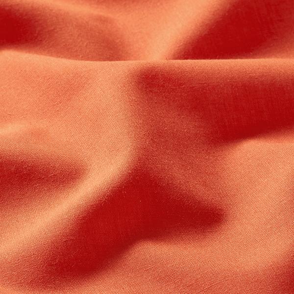 Batiste Tissu de coton mélangé Uni – rouge-orange