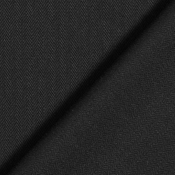 Tissu pour chemise et chemisier Chevrons – noir
