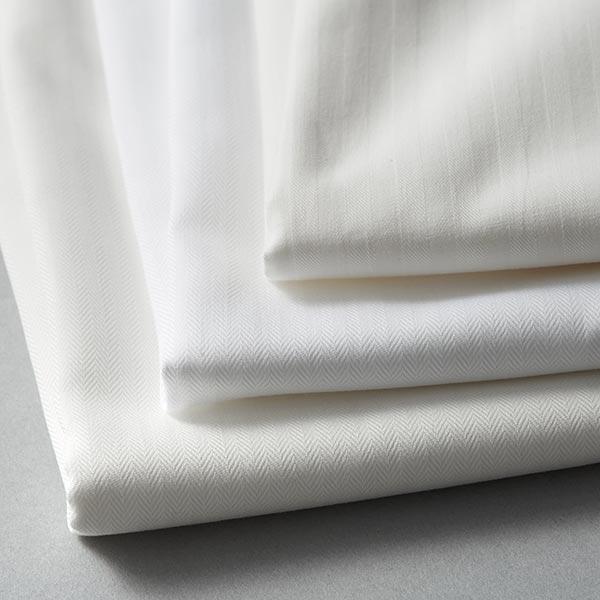 Tissu pour chemise et chemisier Chevrons – écru