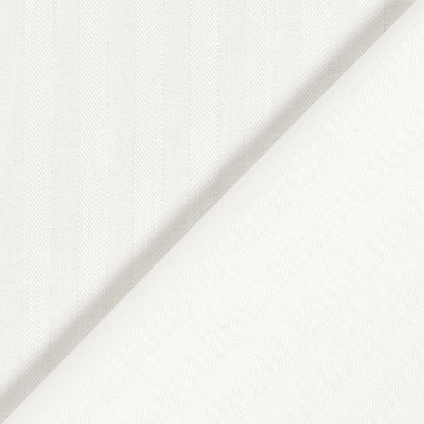 Tissu pour chemise et chemisier Rayures verticales – écru