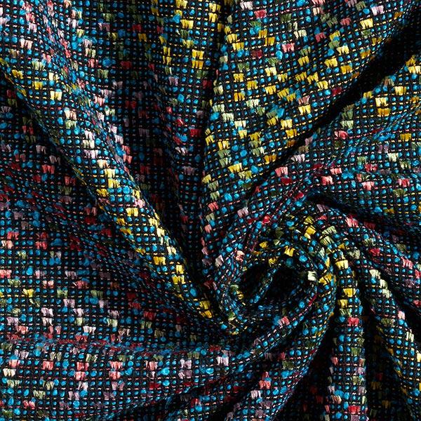 Bouclé confettis – noir/turquoise