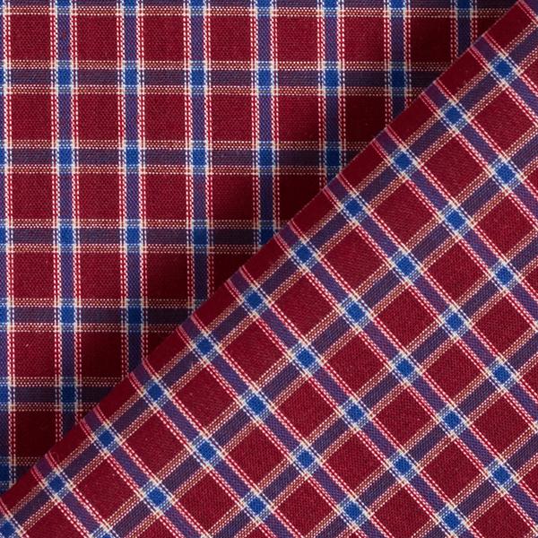 Tissus polaires Tissu de coton mélangé à carreaux – rouge bordeaux/bleu marine