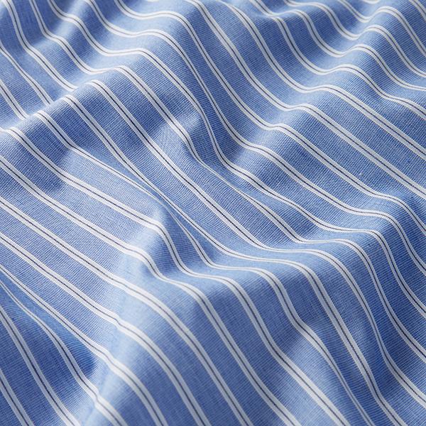 Tissus polaires Tissu de coton mélangé Rayures – bleu jean