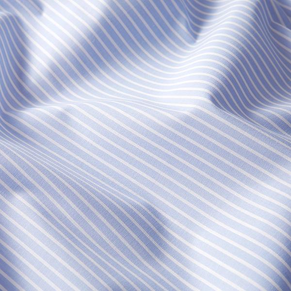 Tissus polaires Tissu de coton mélangé rayé – bleu clair/blanc