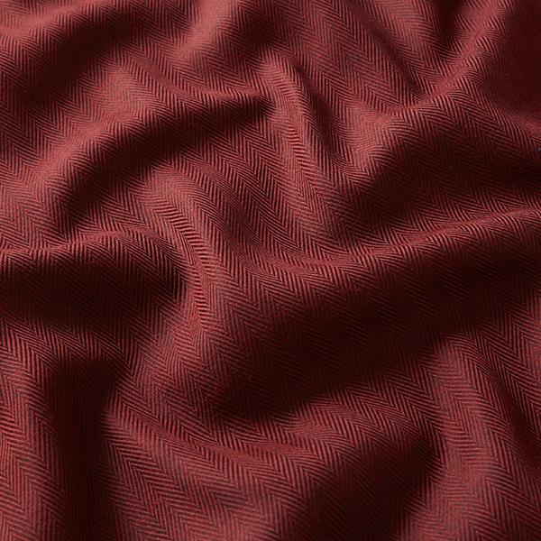 Tissu de coton mélangé Chevron – rouge bordeaux