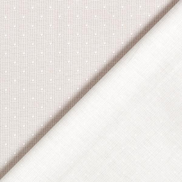 Popeline fine Petits carrés – beige/blanc