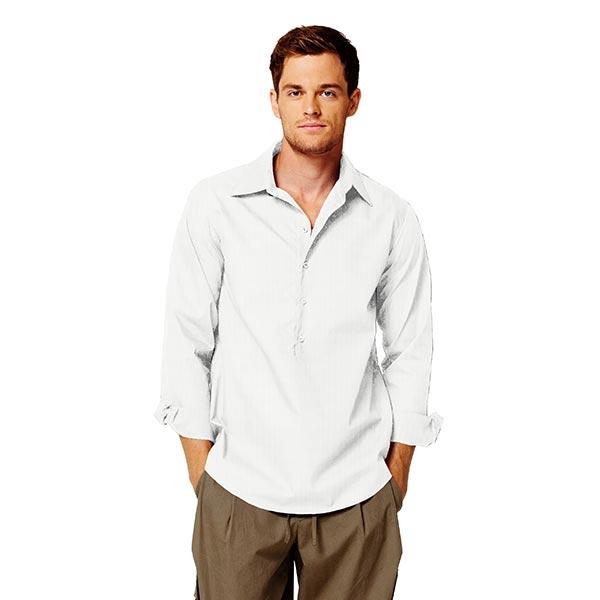 Tissu pour chemise Chevrons – écru
