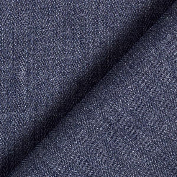 Tissu pour chemise Chevrons – bleu jean