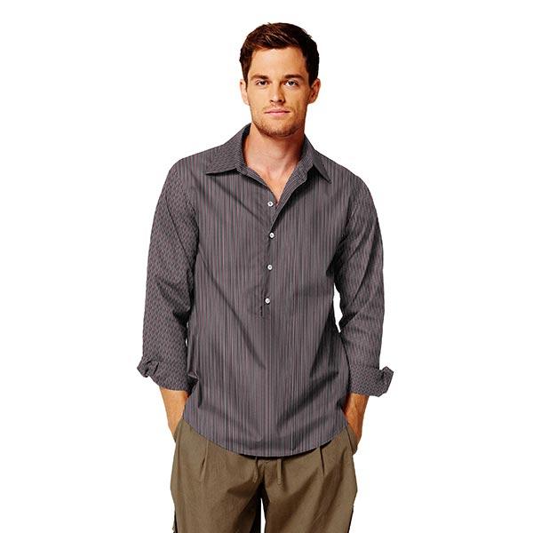 Tissu pour chemise rayé – noir/rouge bordeaux