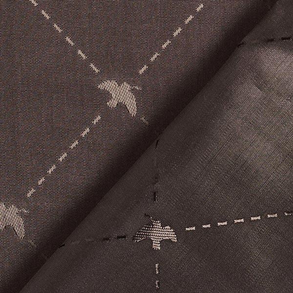 Tissu de doublure Jacquard Oiseau – marron noir