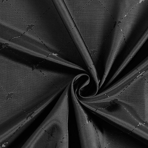 Tissu de doublure Jacquard Vogel – noir