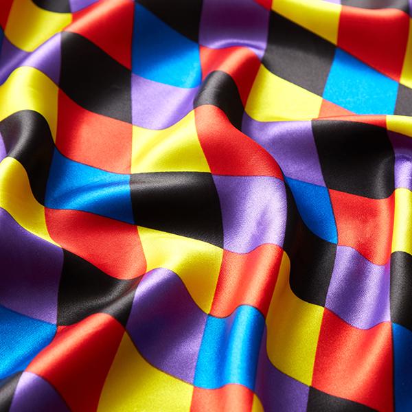 Satin polyester Grands losanges