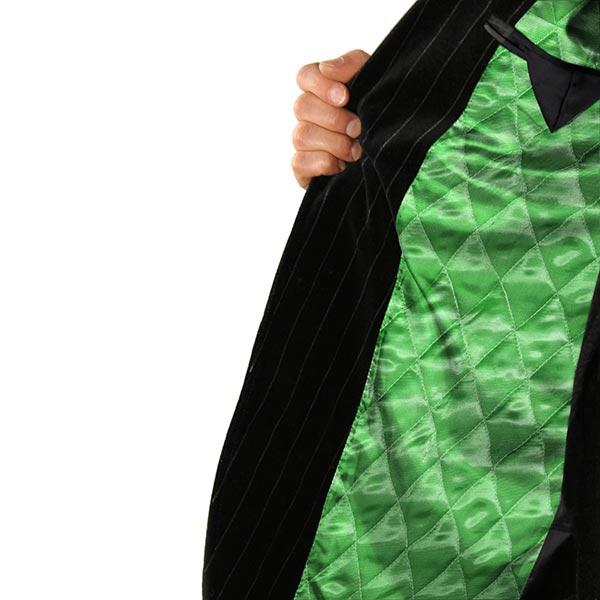 Tissu en satin matelassé doubleface – vert