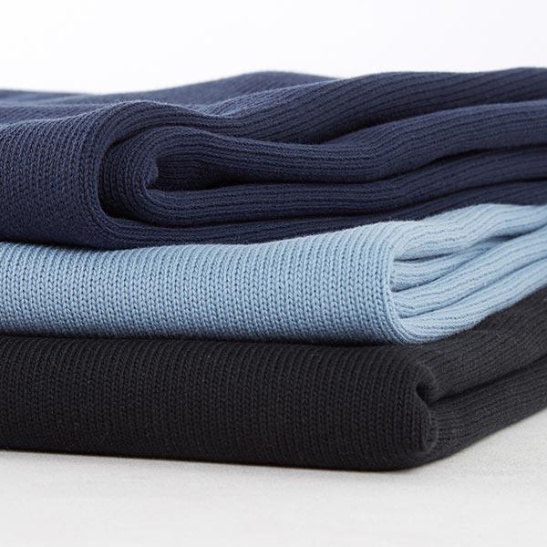Tricot pur coton moyen – bleu marine
