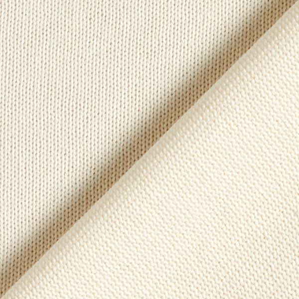 Tricot pur coton moyen – crème