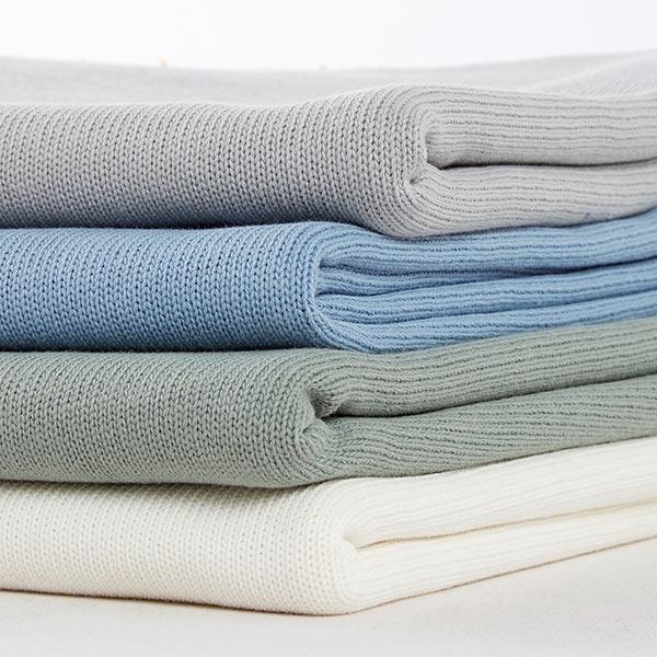 Tricot pur coton moyen – gris clair