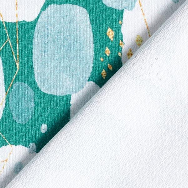 French Terry Imprimé numérique Aquarelle moderne – vert menthe