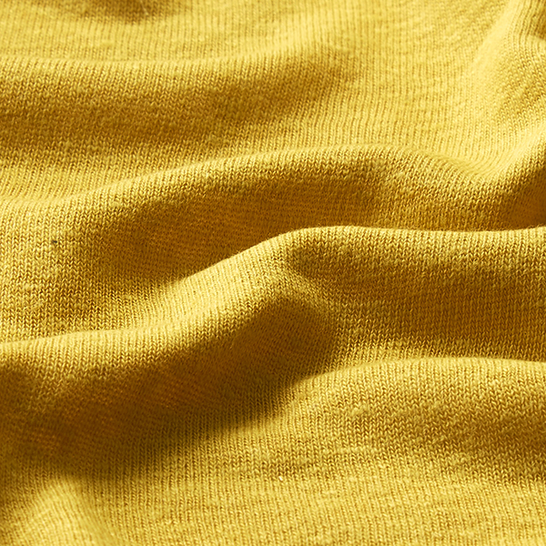 Jersey Mélange viscose lin Fil de flamme – moutarde