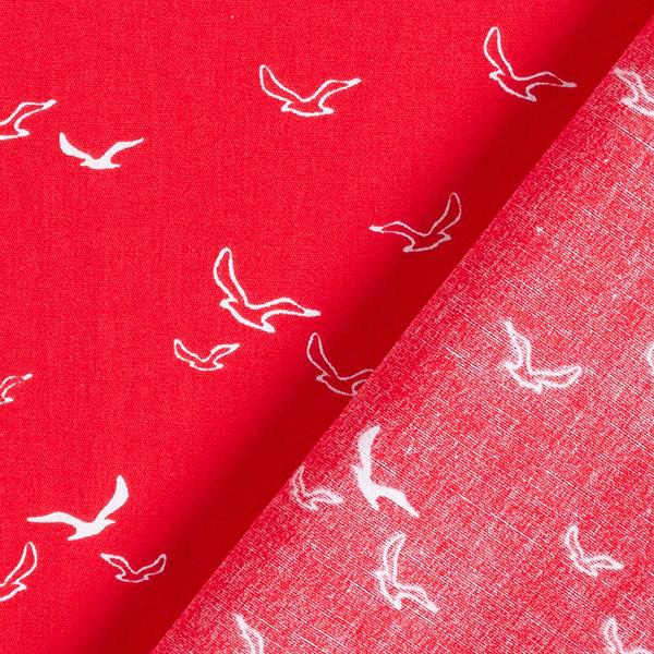 Popeline coton Mouettes – rouge