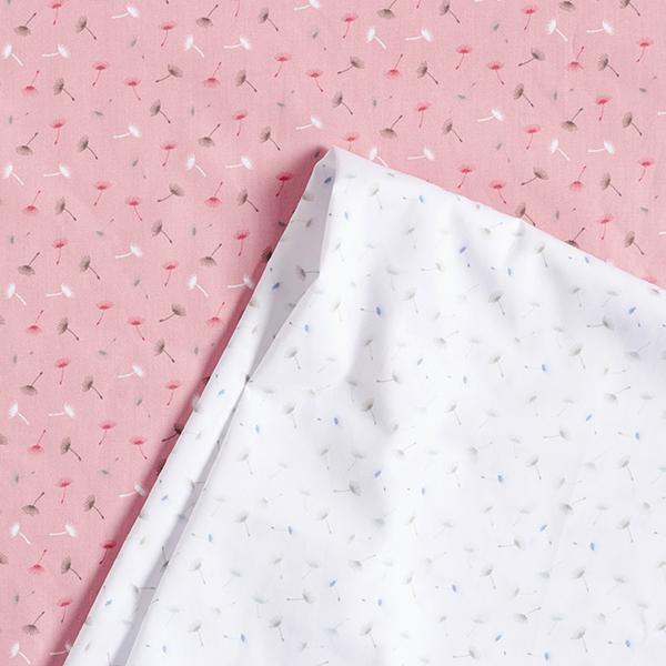 Popeline coton Fleur de pissenlit – rose