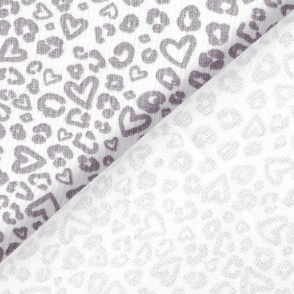 Jersey coton Cœurs léopard – rosé/gris clair