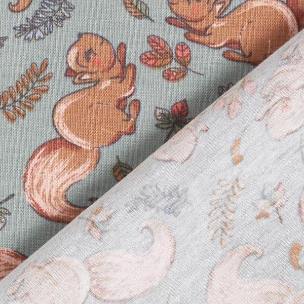 Jersey coton Écureuils dans la forêt – roseau