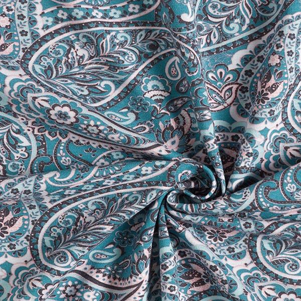 Jersey coton Paisley