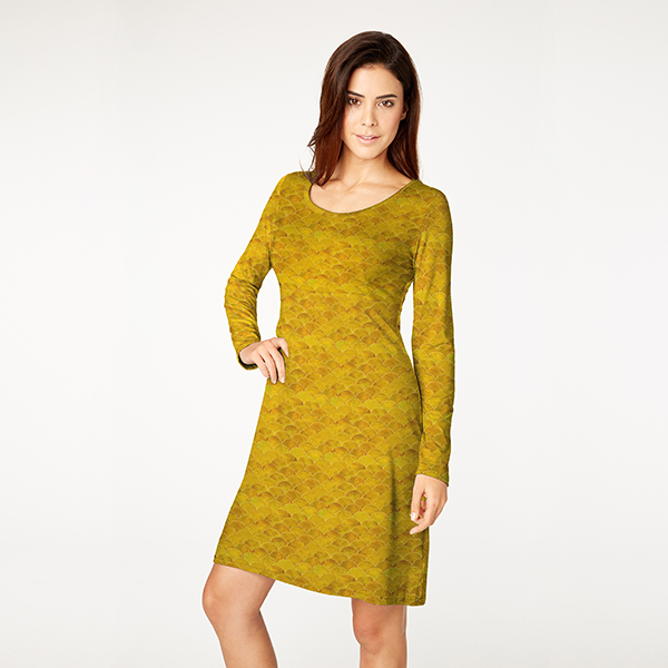 Jersey viscose Ecailles – curry