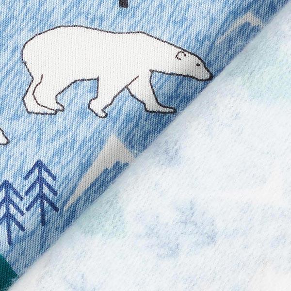 Sweatshirt gratté Sweat douillet Ours polaires – bleu clair/blanc