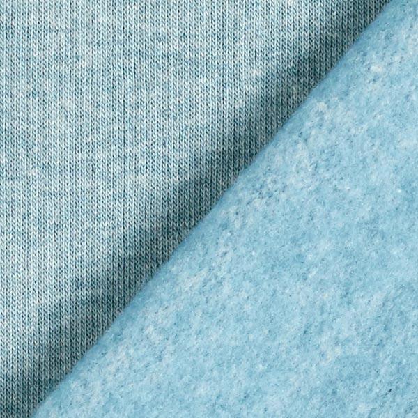 Sweat-shirt mélange clair – pétrole