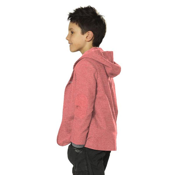 Sweat-shirt mélange clair – rouge clair