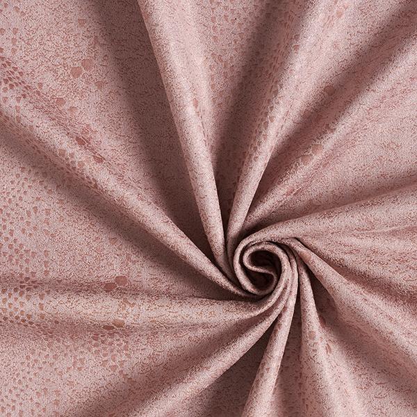 Daim stretch Imitation daim Peau de serpent – rosé