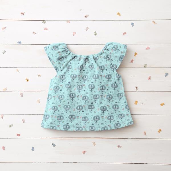 Jersey coton Lion – bleu bébé
